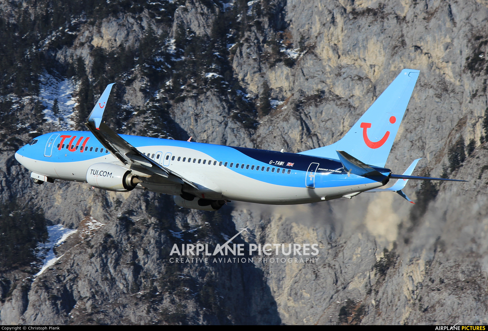 TUI Airways G-TAWI aircraft at Innsbruck