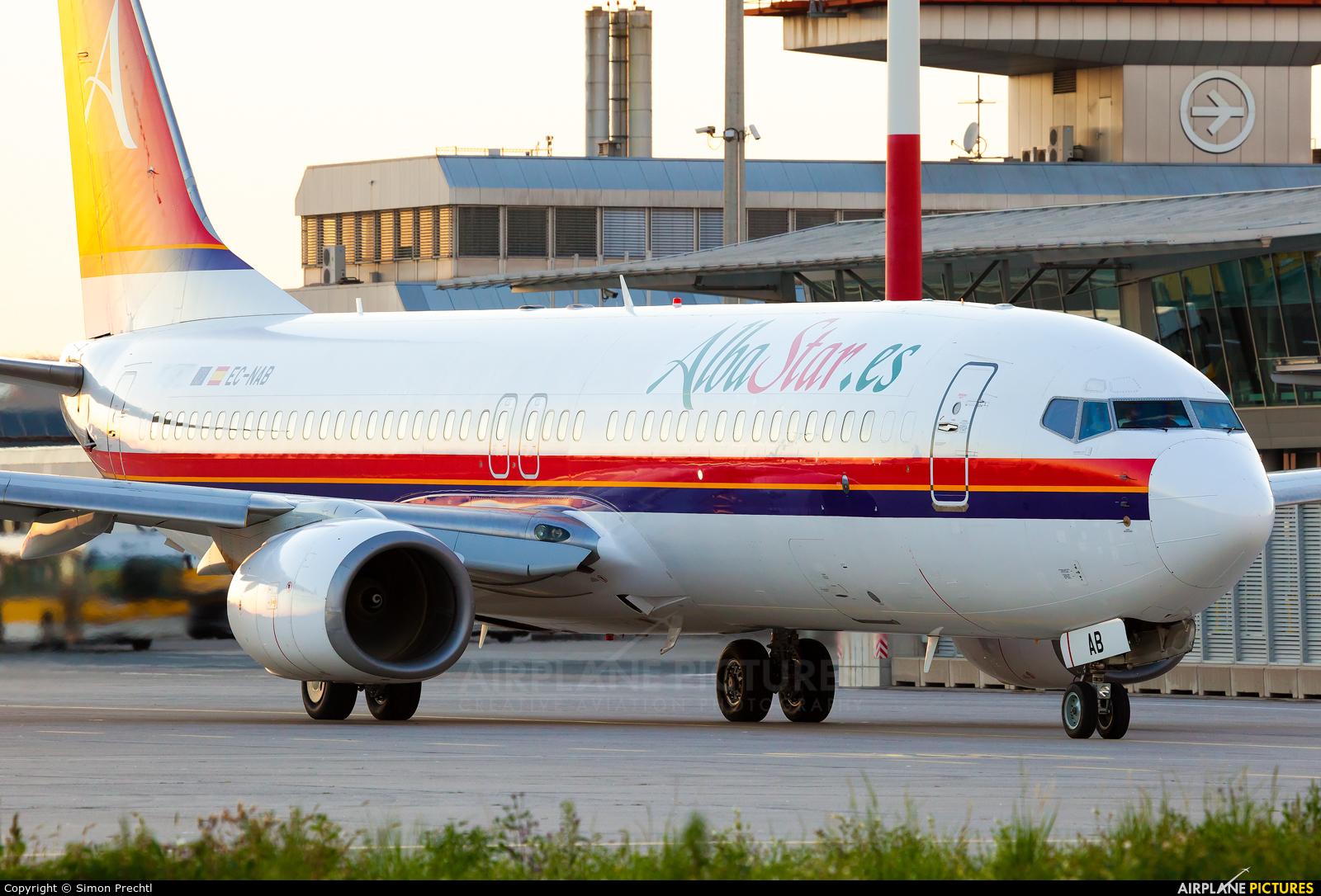 AlbaStar EC-NAB aircraft at Linz