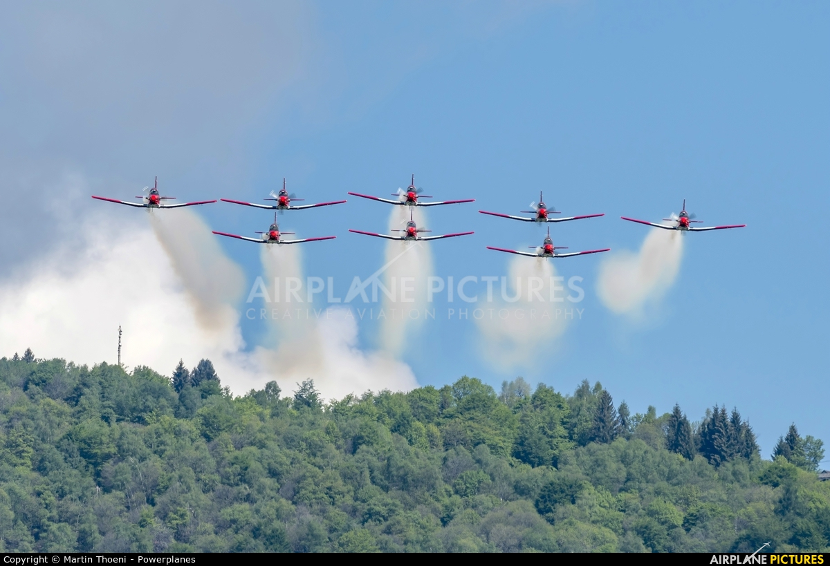 Switzerland - Air Force: PC-7 Team A-928 aircraft at Locarno