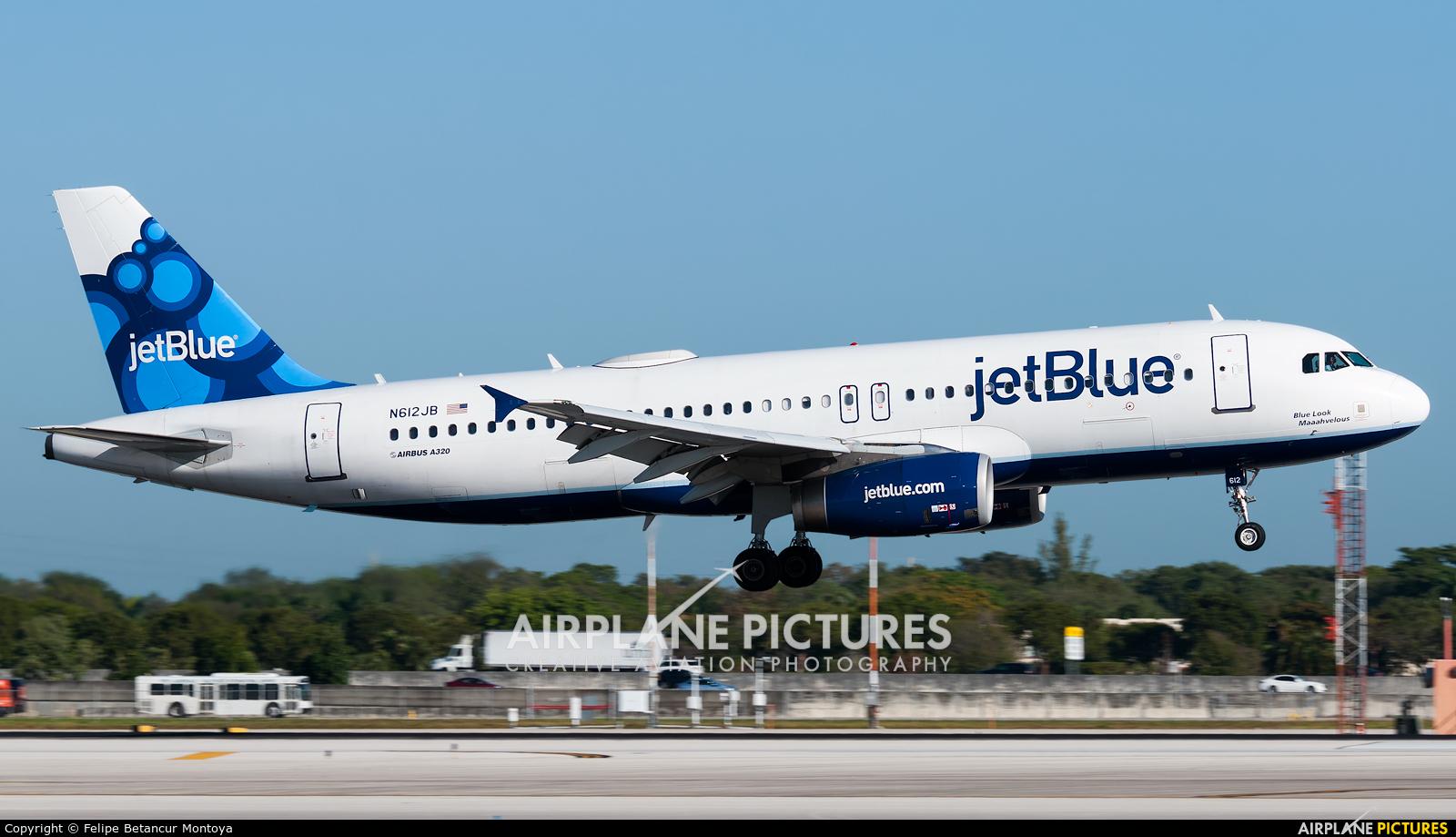 JetBlue Airways N612JB aircraft at Fort Lauderdale - Hollywood Intl