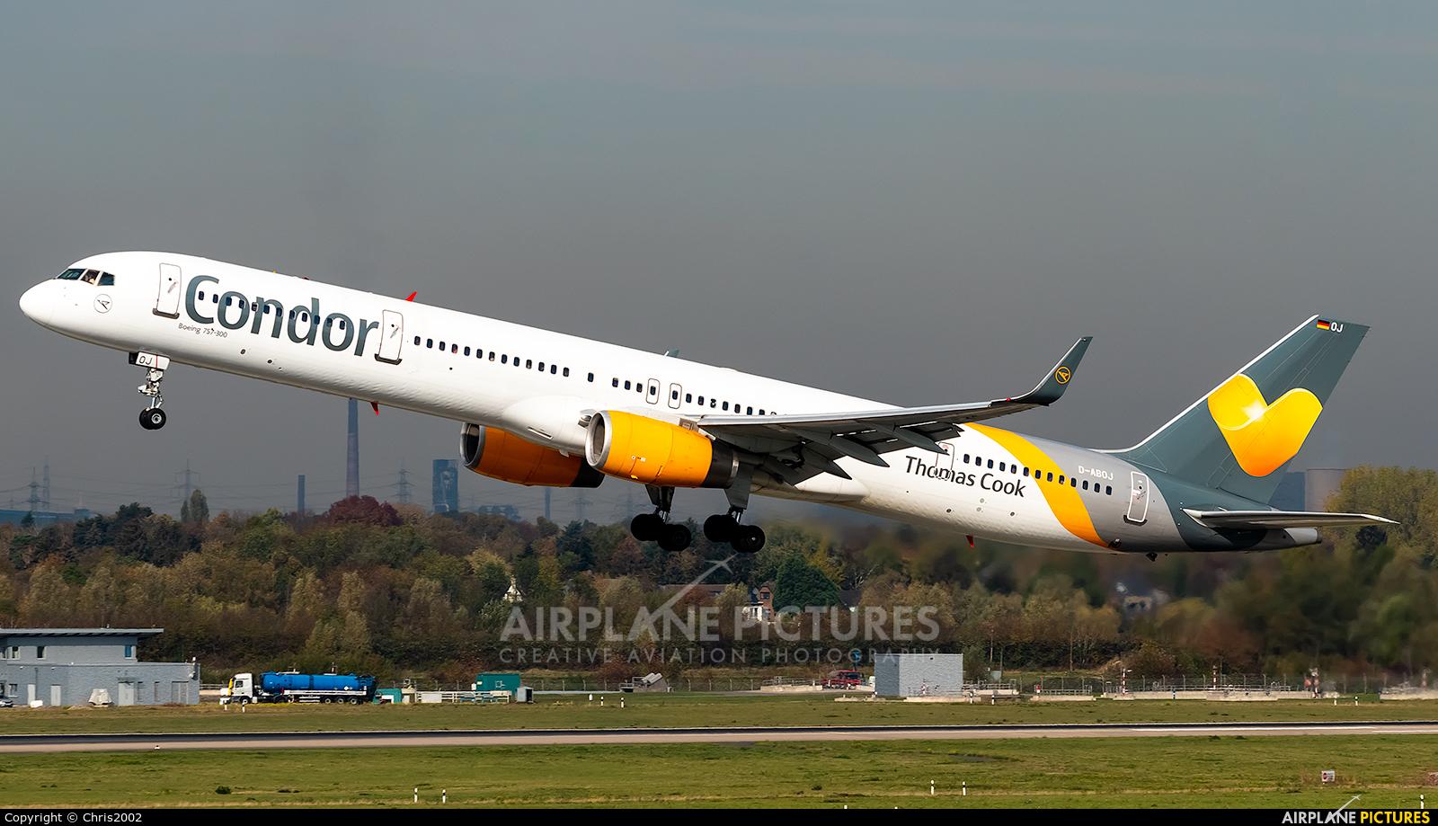 Condor D-ABOJ aircraft at Düsseldorf