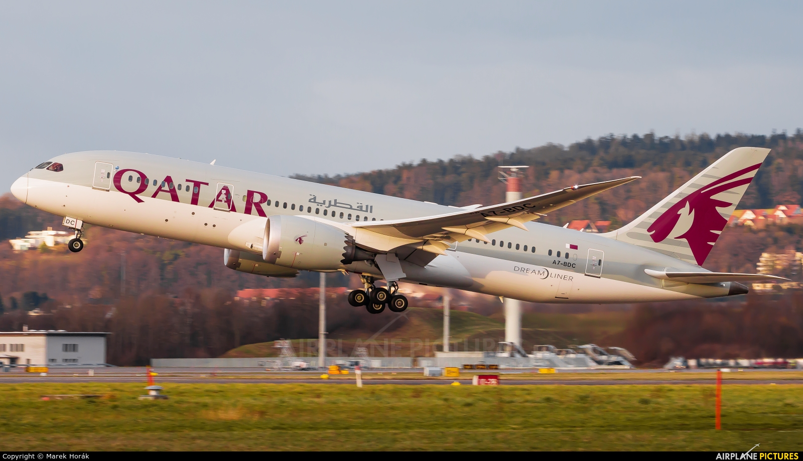 Qatar Airways A7-BDC aircraft at Zurich