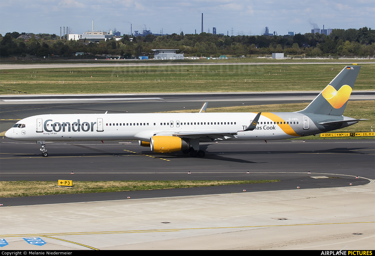 Condor D-ABOL aircraft at Düsseldorf