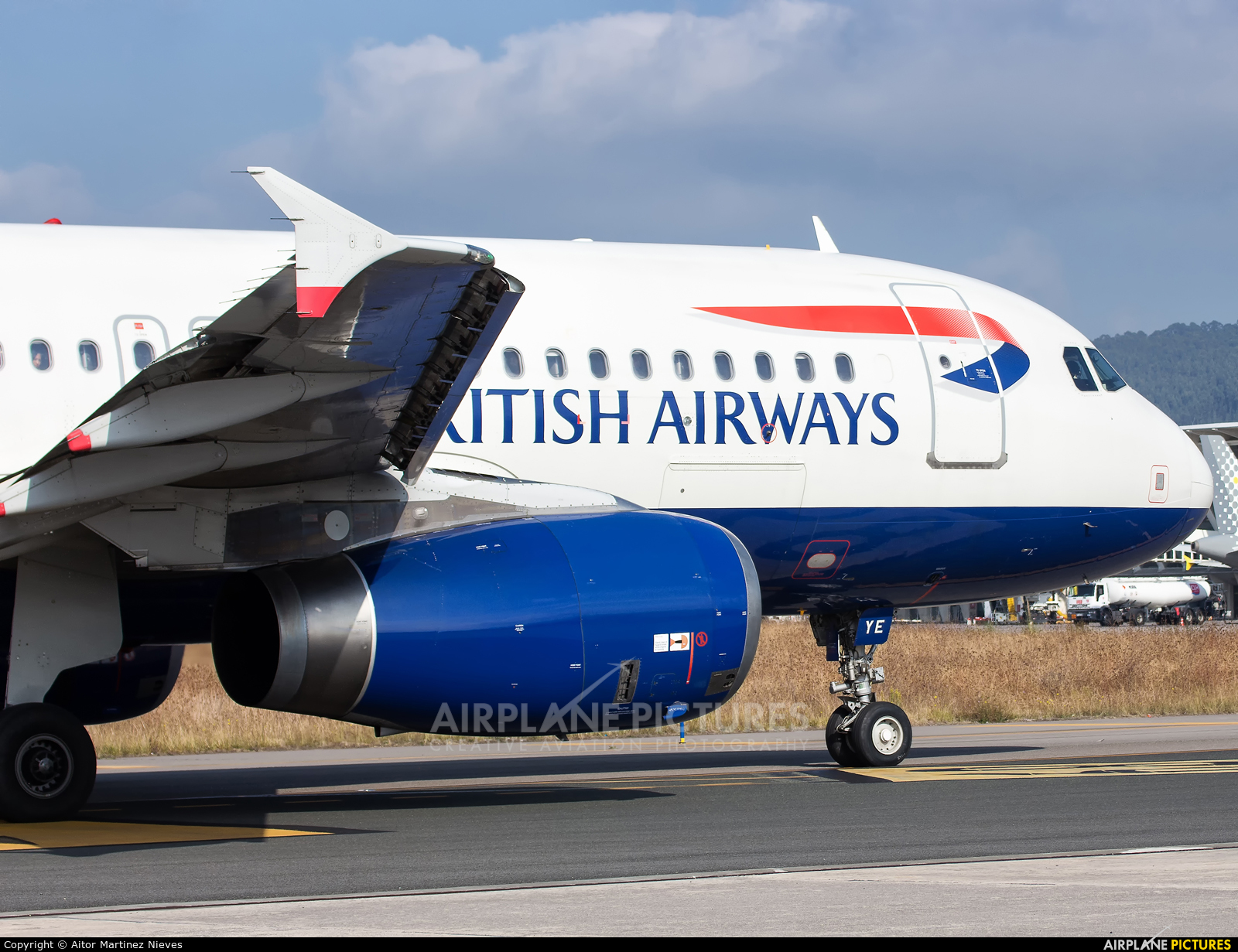 British Airways G-EUYE aircraft at Bilbao