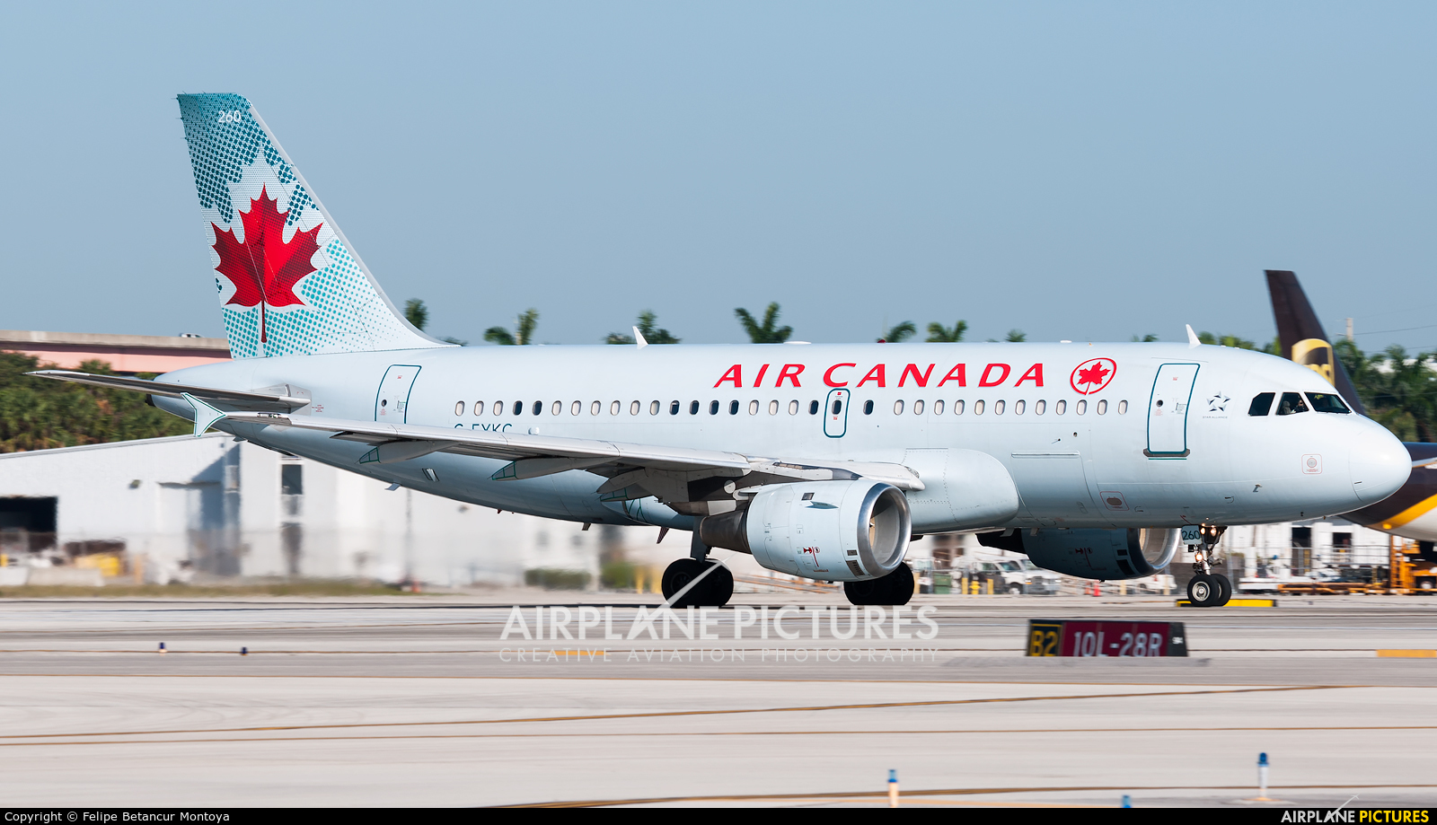 Air Canada C-FYKC aircraft at Fort Lauderdale - Hollywood Intl