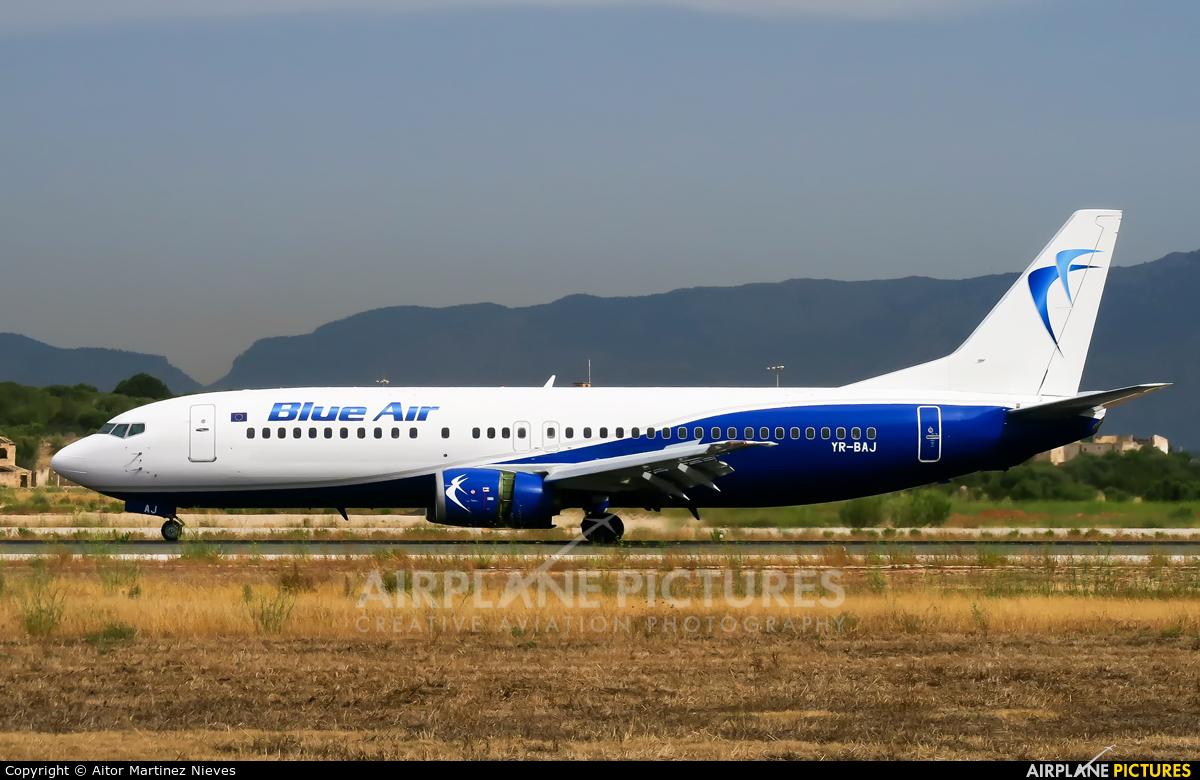 Blue Air YR-BAJ aircraft at Palma de Mallorca