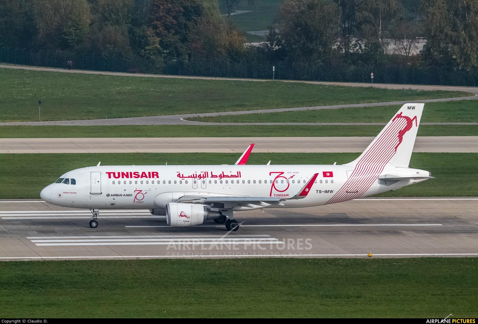 Tunisair TS-IMW aircraft at Zurich