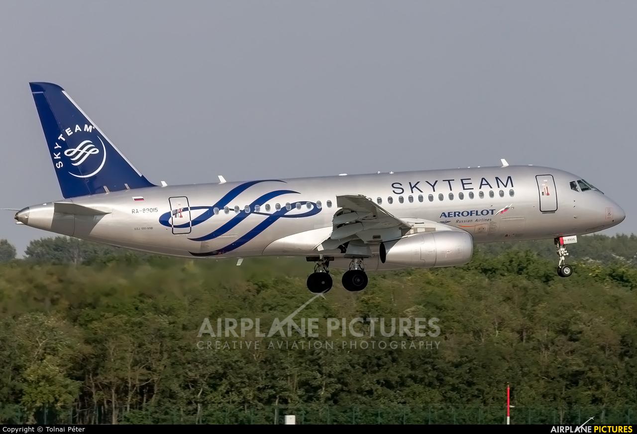 Aeroflot RA-89015 aircraft at Budapest Ferenc Liszt International Airport