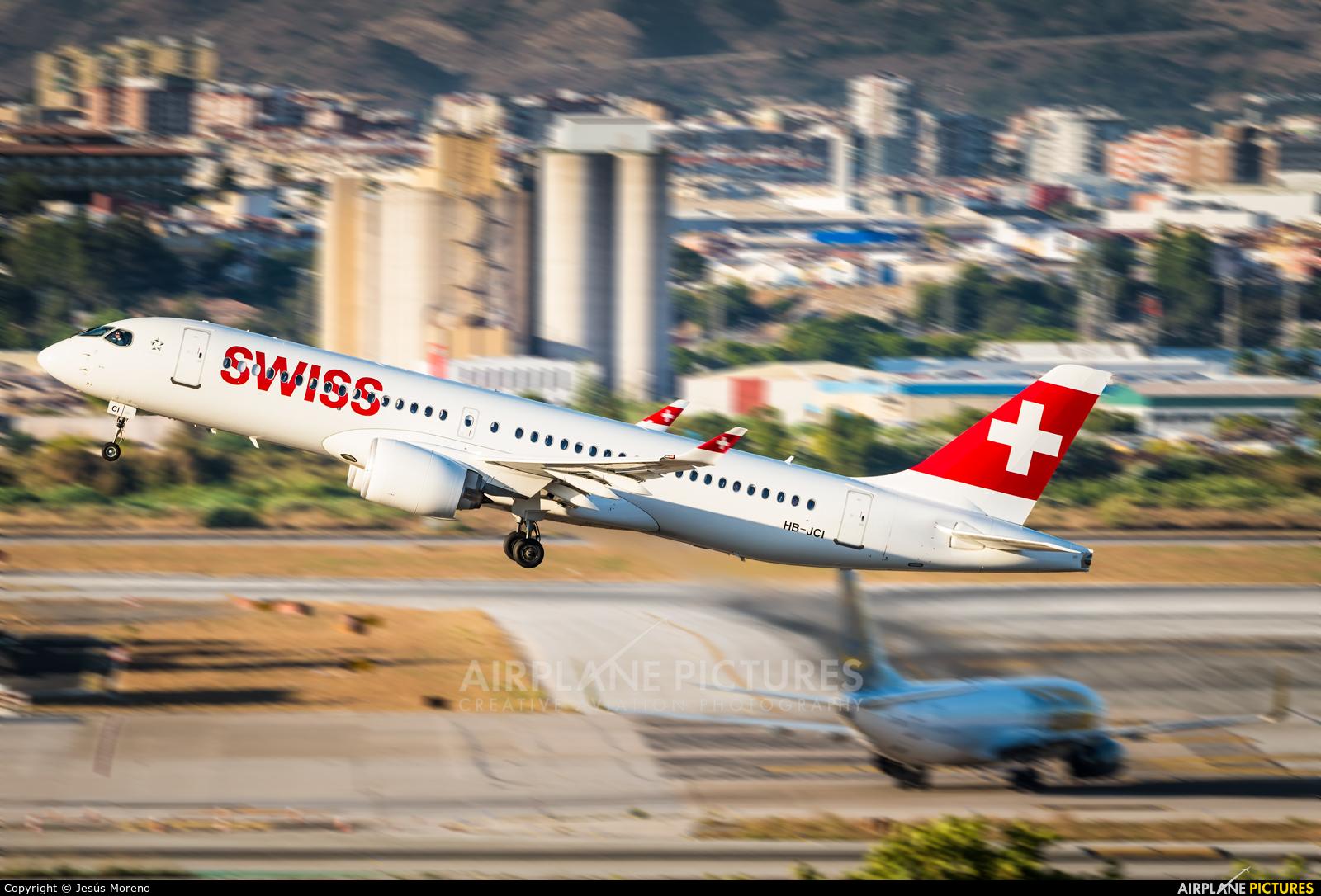 Swiss HB-JCI aircraft at Málaga
