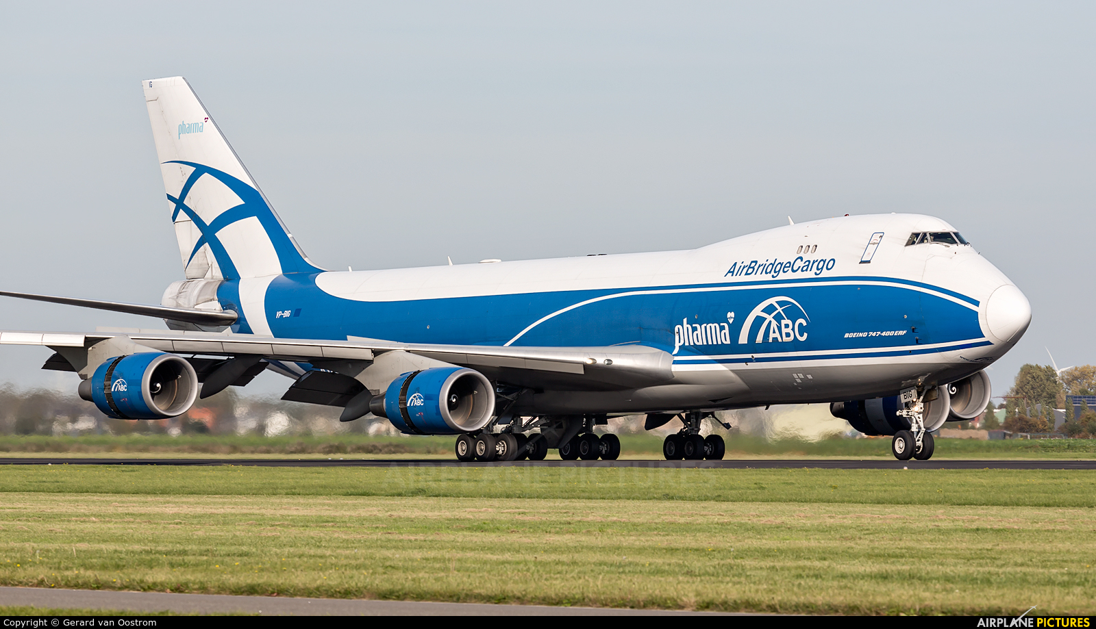 Air Bridge Cargo VP-BIG aircraft at Amsterdam - Schiphol