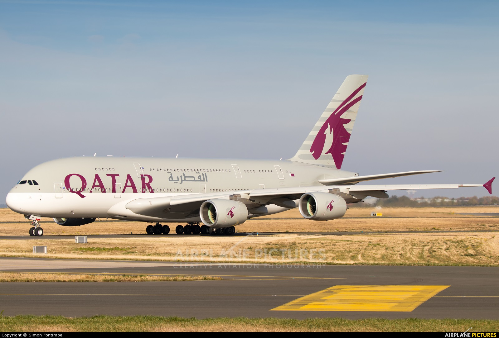 Qatar Airways A7-API aircraft at Paris - Charles de Gaulle