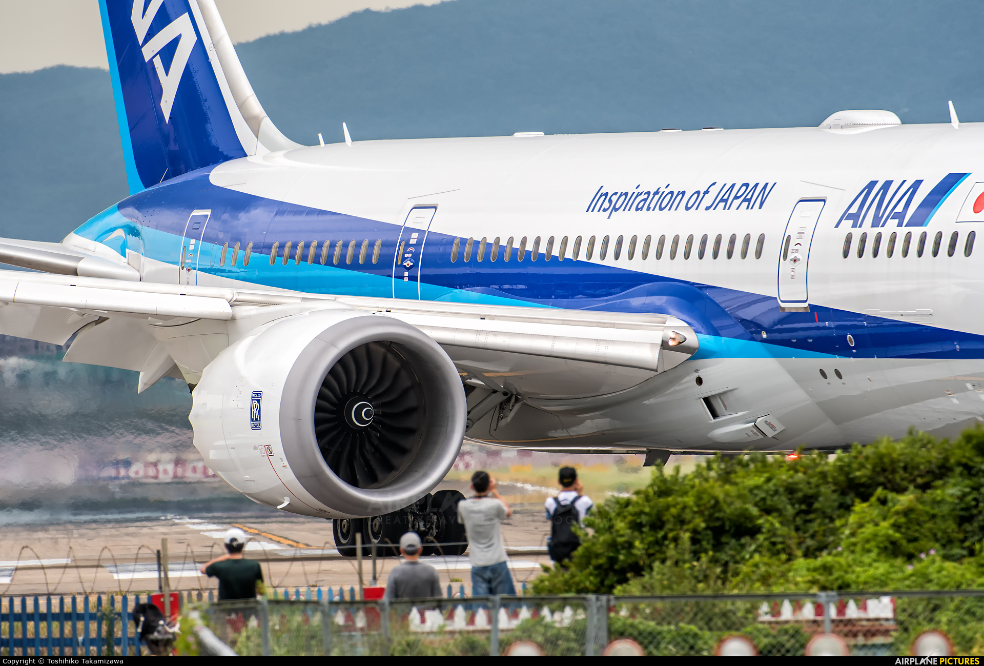 ANA - All Nippon Airways JA803A aircraft at Taipei - Sung Shan