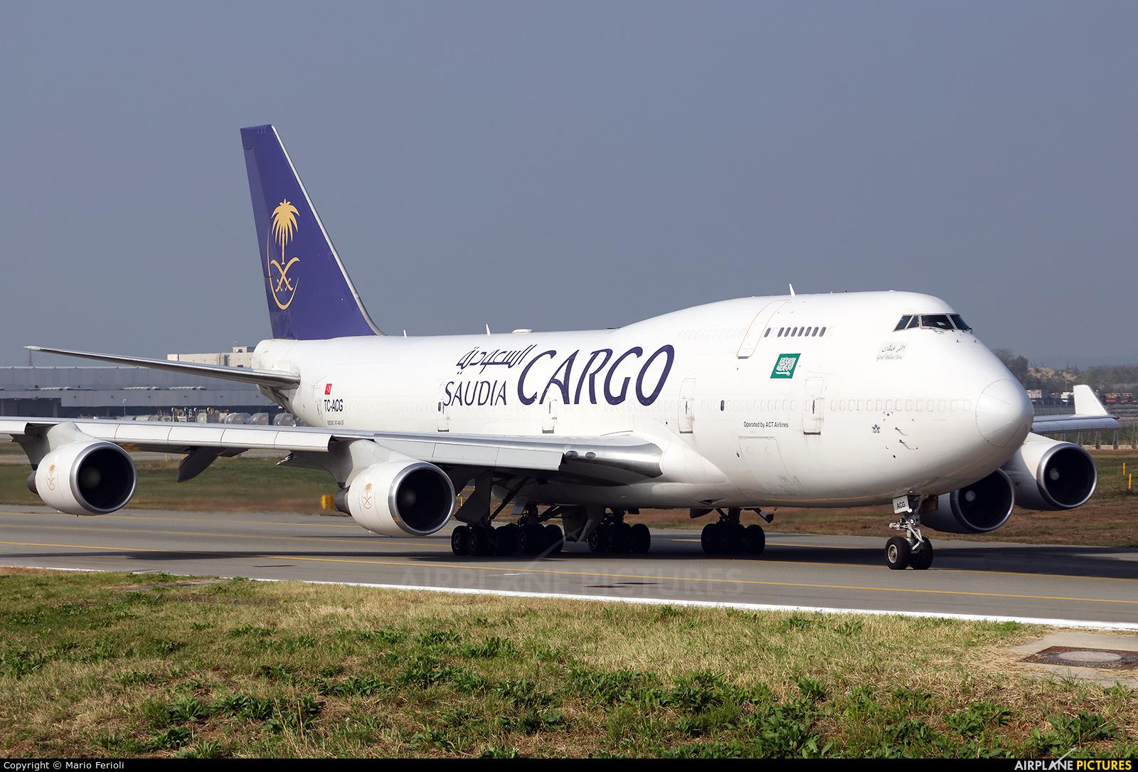 Saudi Arabian Cargo TC-ACG aircraft at Milan - Malpensa
