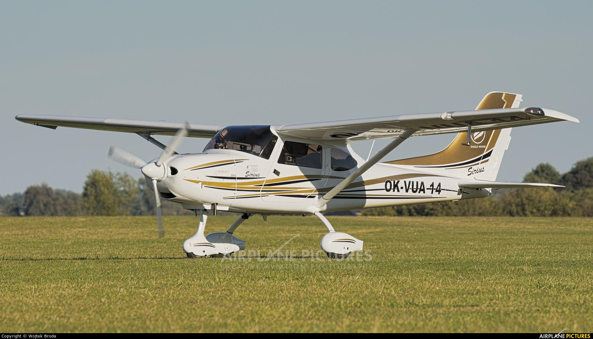 Private OK-VUA14 aircraft at Wrocław - Szymanów