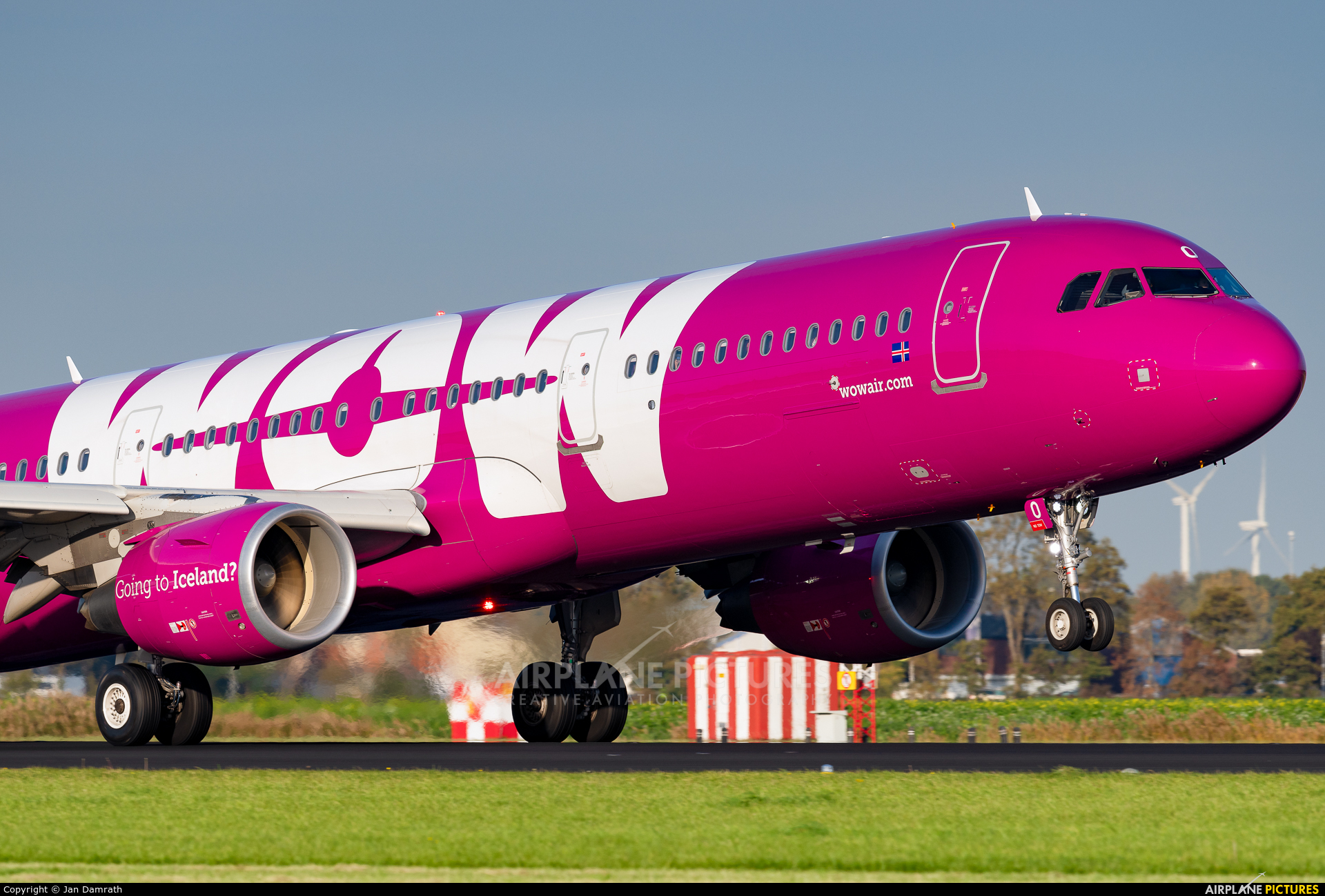 WOW Air TF-PRO aircraft at Amsterdam - Schiphol