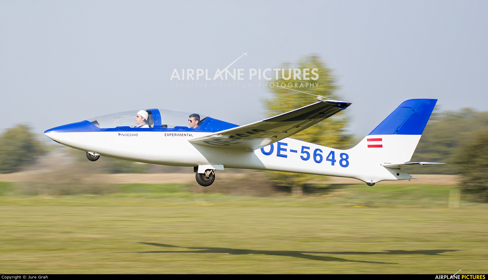 Private OE-5648 aircraft at Murska Sobota