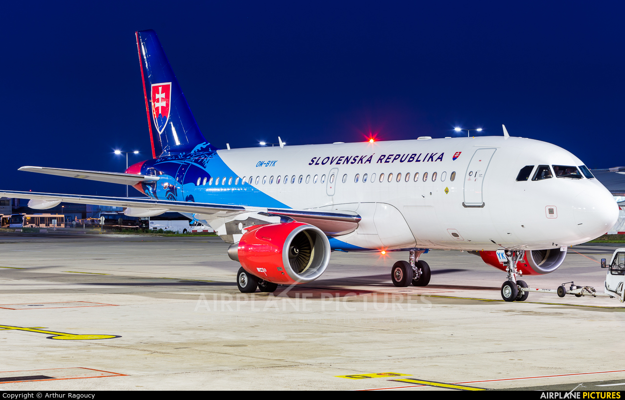 Slovakia - Government OM-BYK aircraft at Paris - Charles de Gaulle