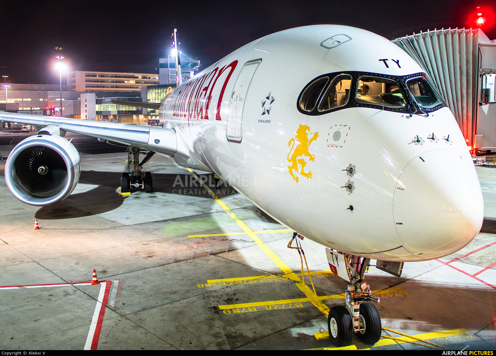 Ethiopian Airlines ET-ATY aircraft at Frankfurt