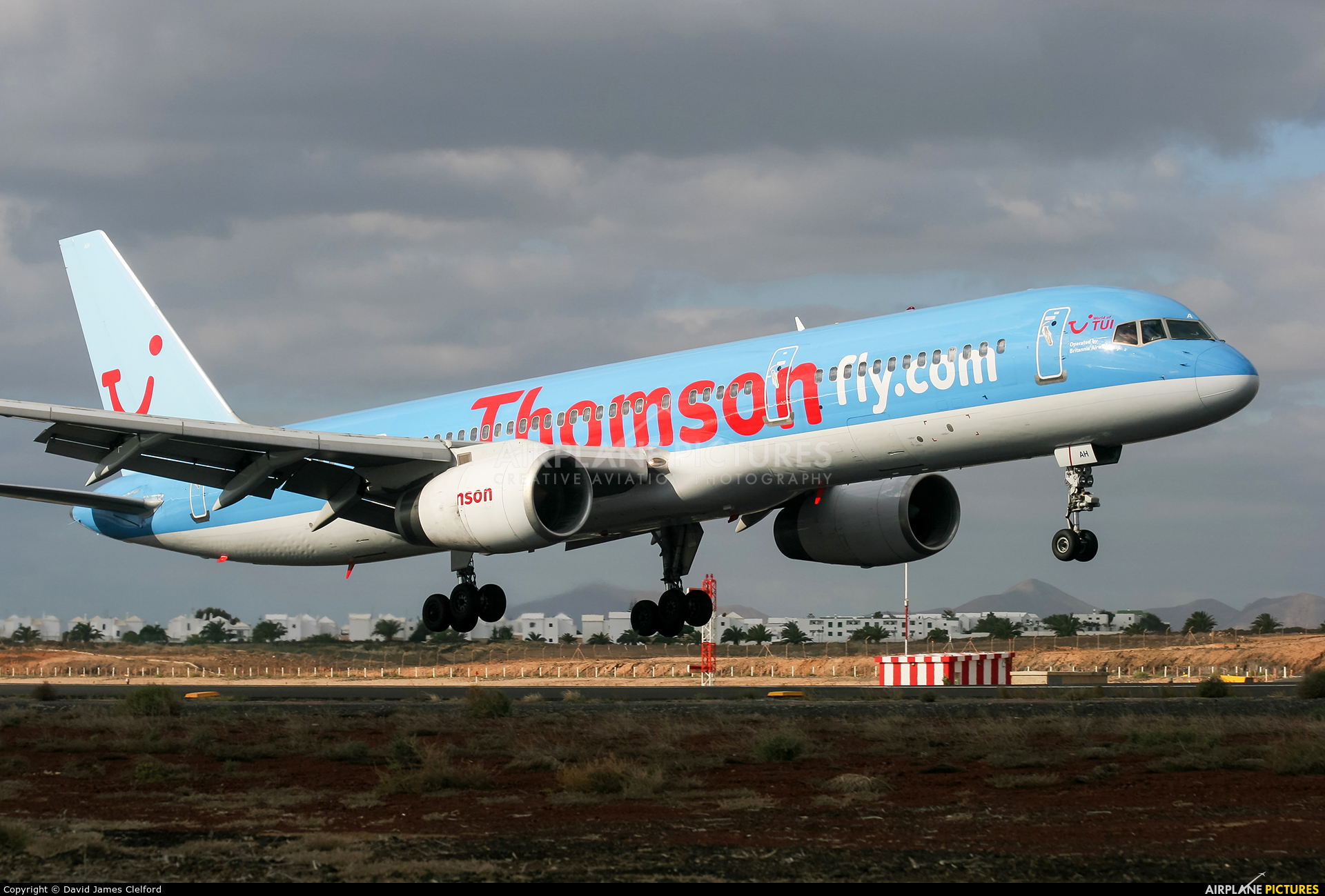 Thomson/Thomsonfly G-BYAH aircraft at Lanzarote - Arrecife