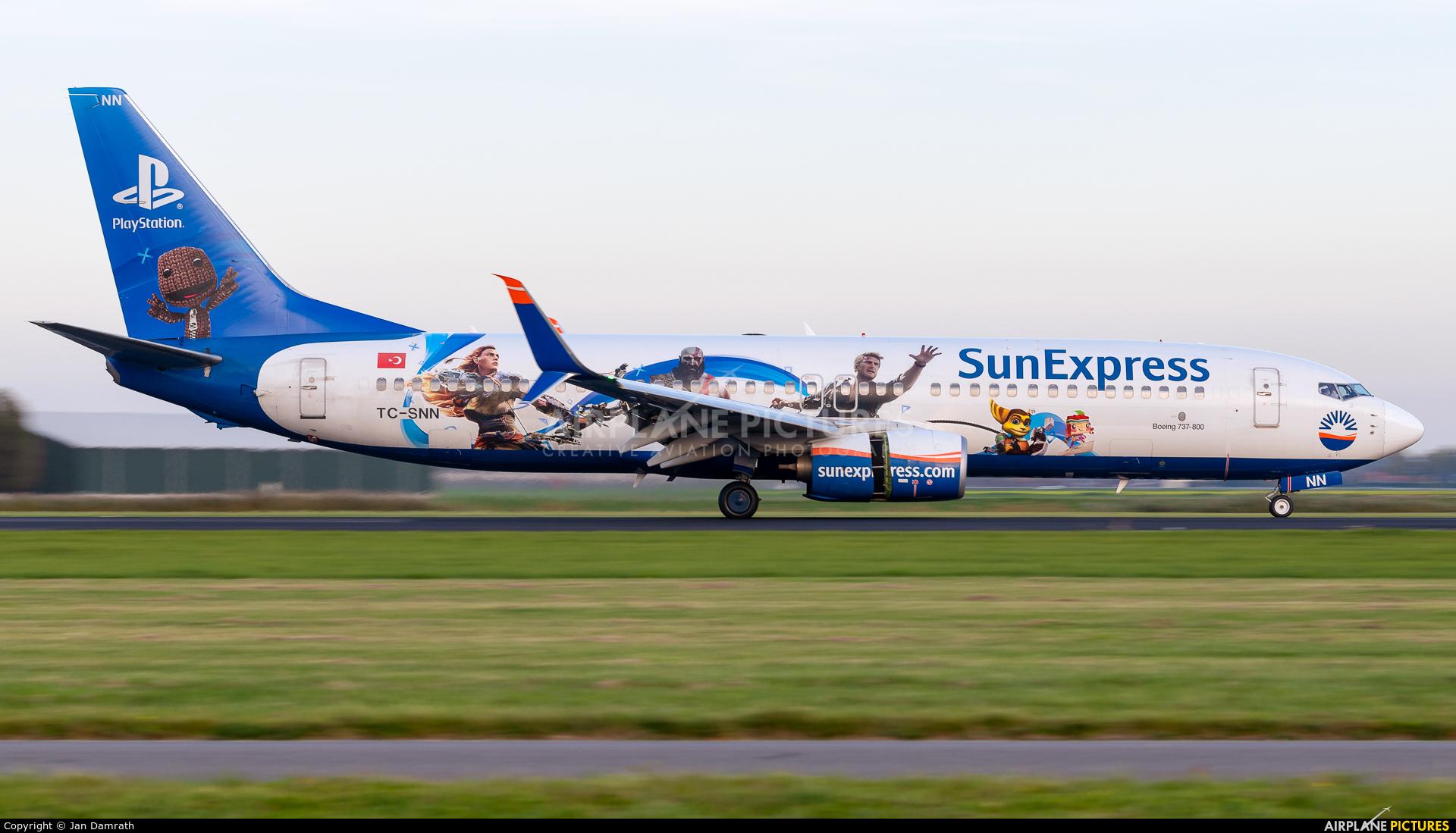 SunExpress TC-SNN aircraft at Amsterdam - Schiphol