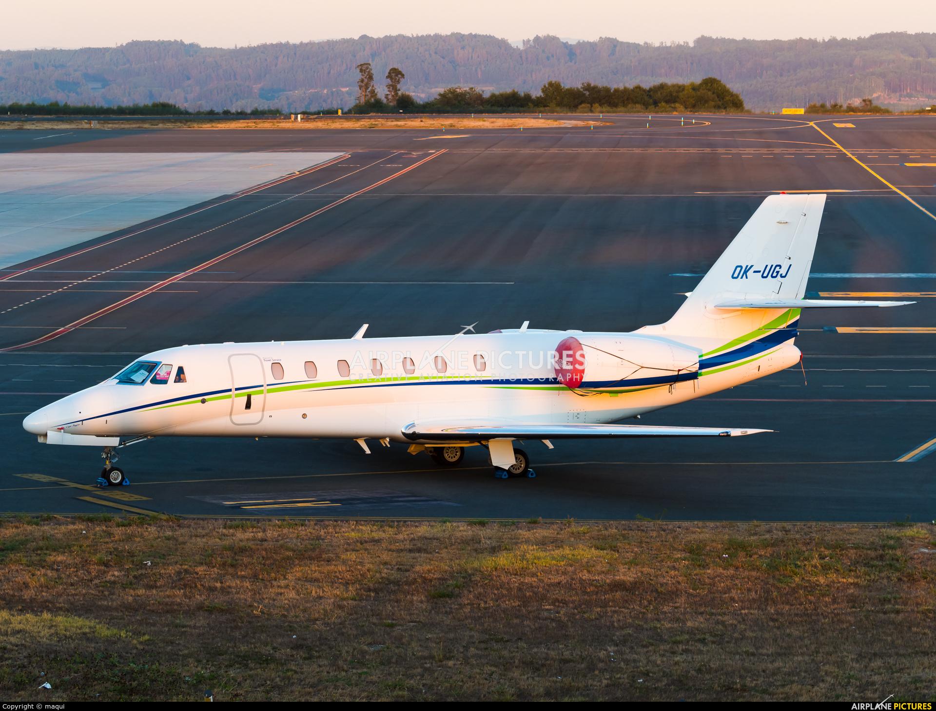 Travel Service OK-UGJ aircraft at Santiago de Compostela