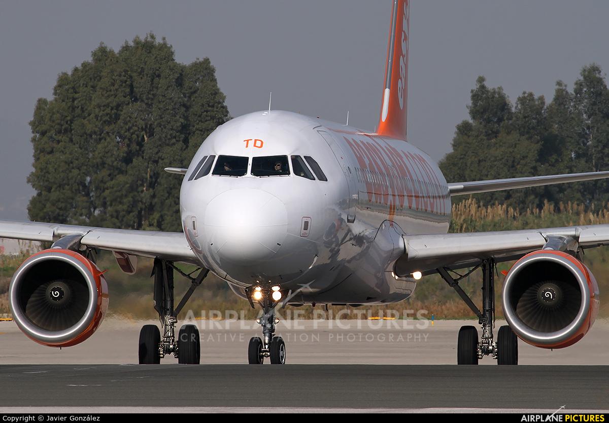 easyJet G-EZTD aircraft at Barcelona - El Prat