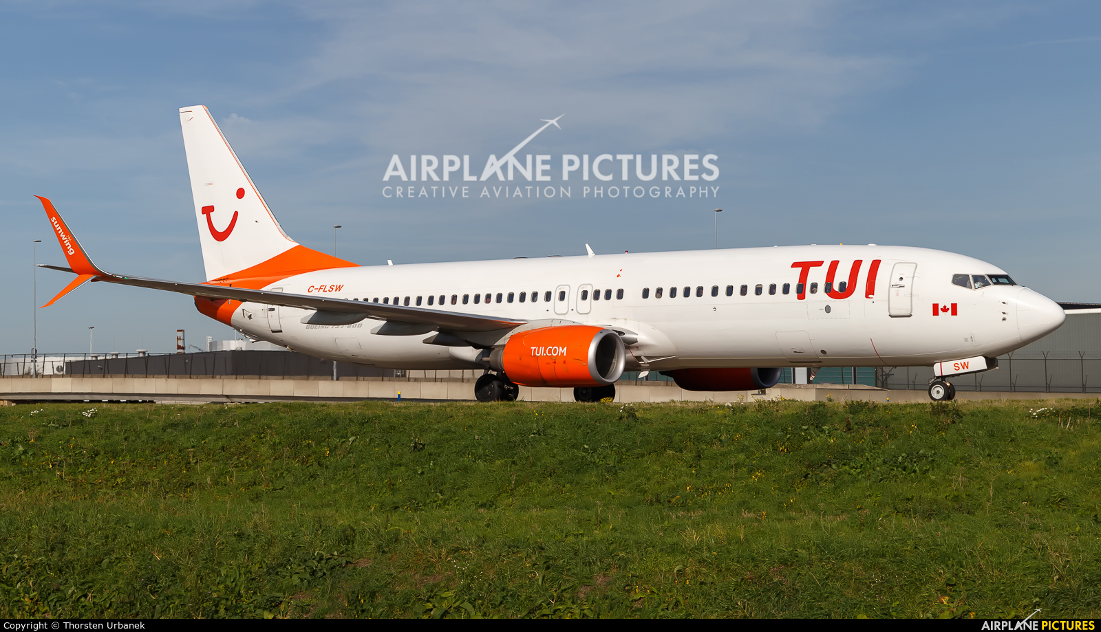 TUI Airlines Netherlands C-FSLW aircraft at Amsterdam - Schiphol