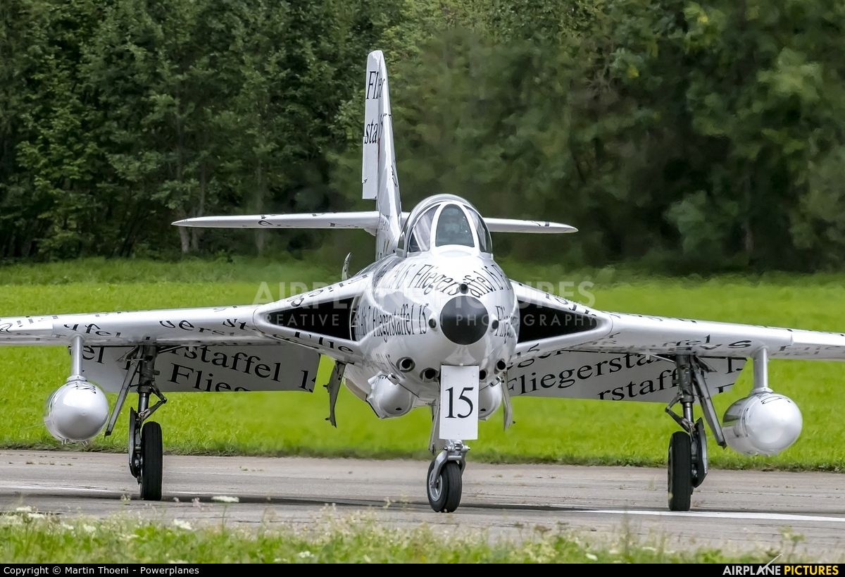Hunter Flying Club HB-RVS aircraft at St. Stephan