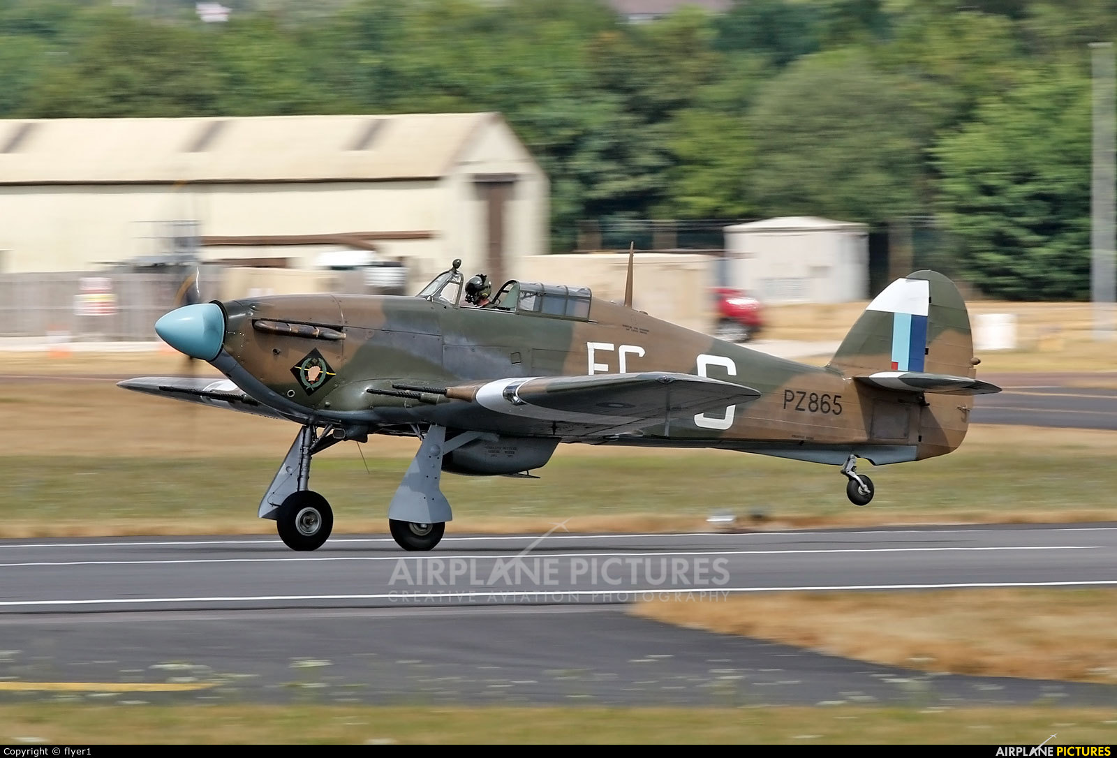 "Royal Air Force ""Battle of Britain Memorial Flight&quot PZ865 aircraft at Fairford"