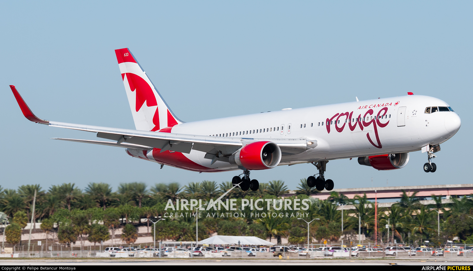 Air Canada Rouge C-FMWU aircraft at Fort Lauderdale - Hollywood Intl