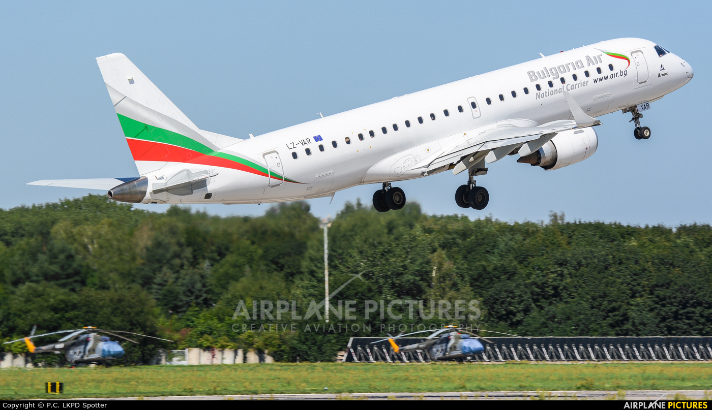 Bulgaria Air LZ-VAR aircraft at Pardubice