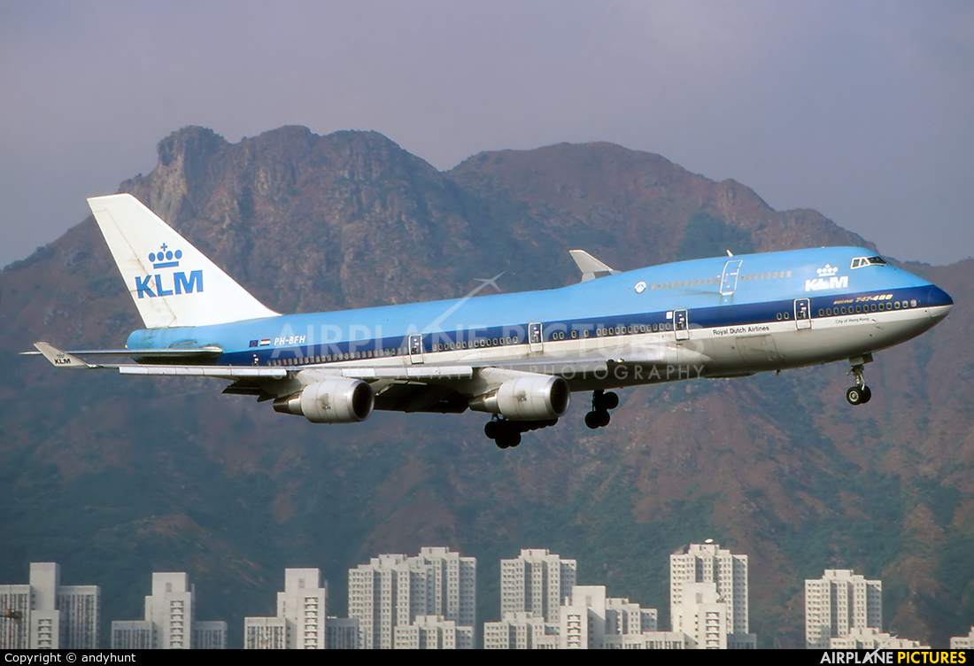 KLM PH-BFH aircraft at HKG - Kai Tak Intl CLOSED