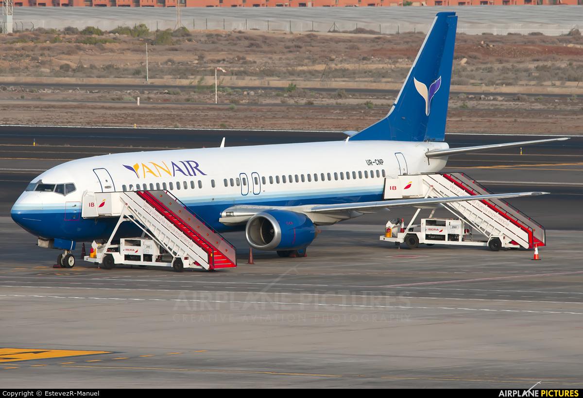YanAir UR-CNP aircraft at Tenerife Sur - Reina Sofia