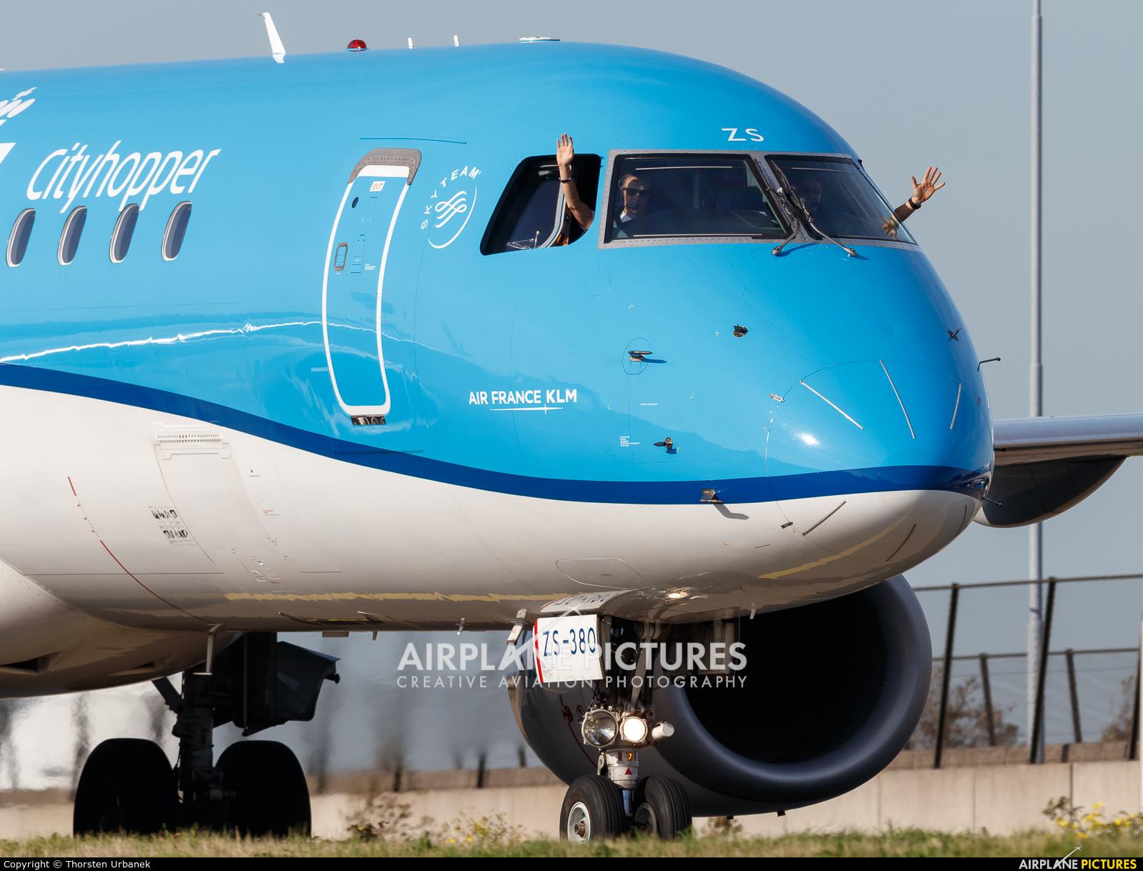 KLM Cityhopper PH-EZS aircraft at Amsterdam - Schiphol