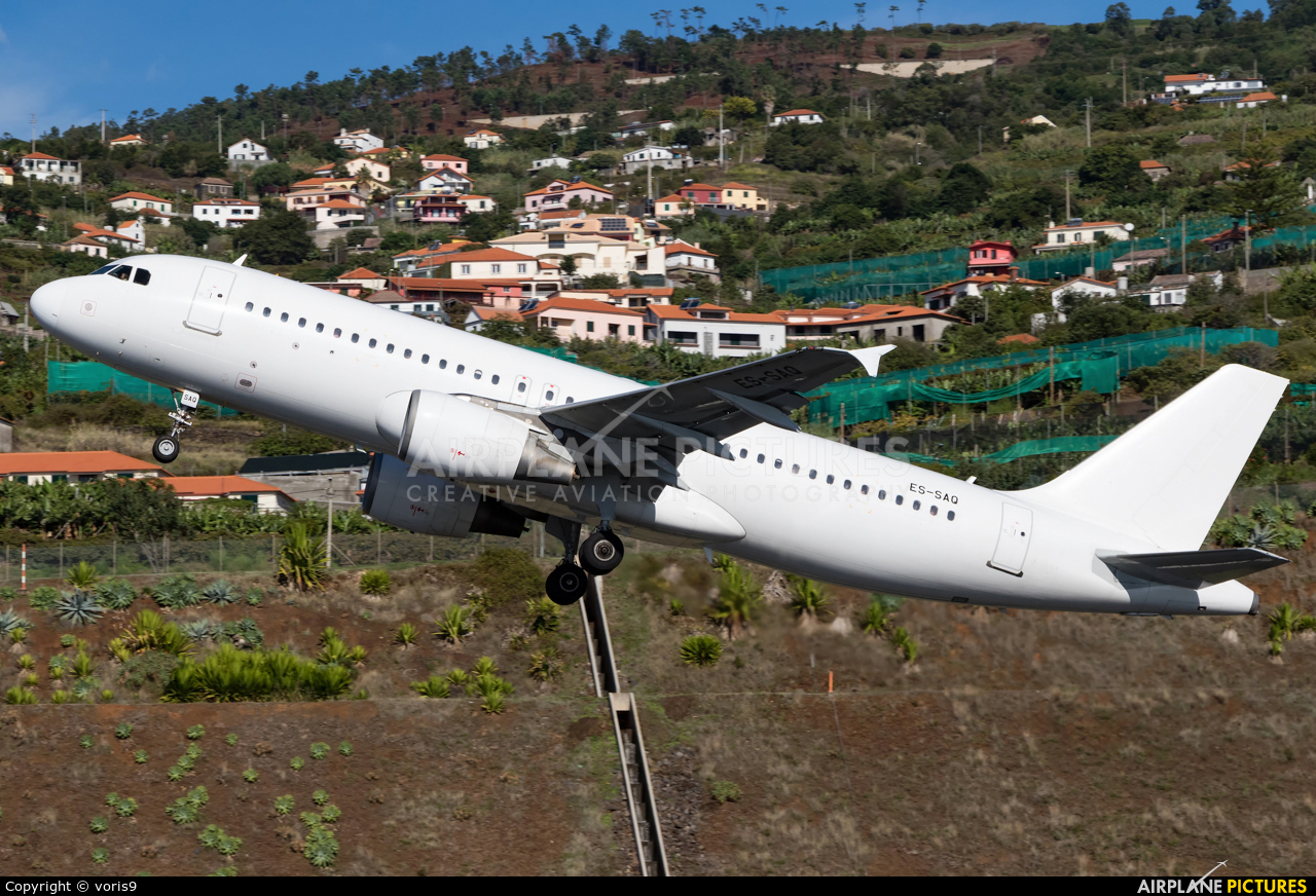 SmartLynx Estonia ES-SAQ aircraft at Madeira