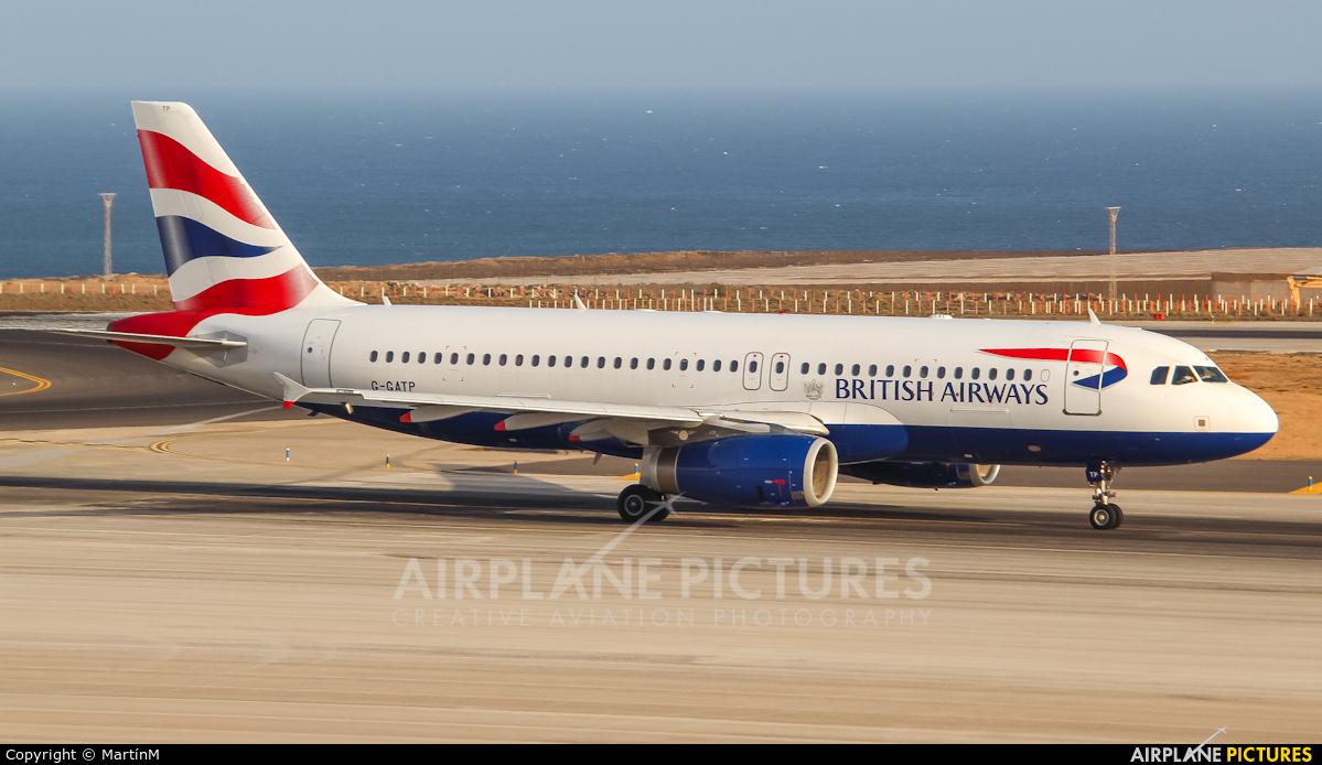 British Airways G-GATP aircraft at Tenerife Sur - Reina Sofia