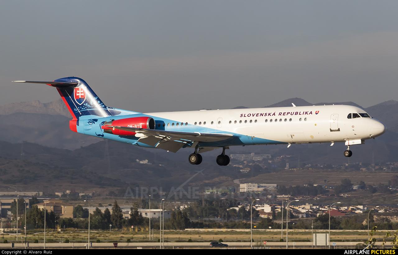 Slovakia - Government OM-BYB aircraft at Málaga