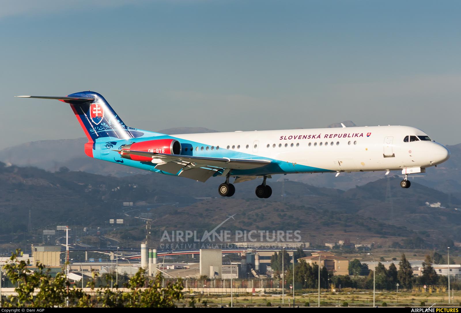 Slovakia - Government OM-BYB aircraft at Malaga - La Axarquia