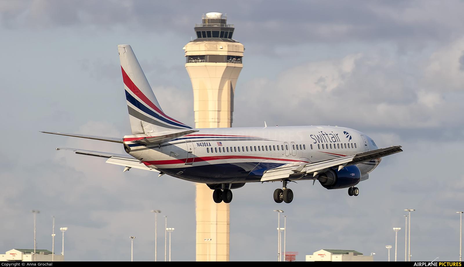 Swift Air N430XA aircraft at Miami Intl