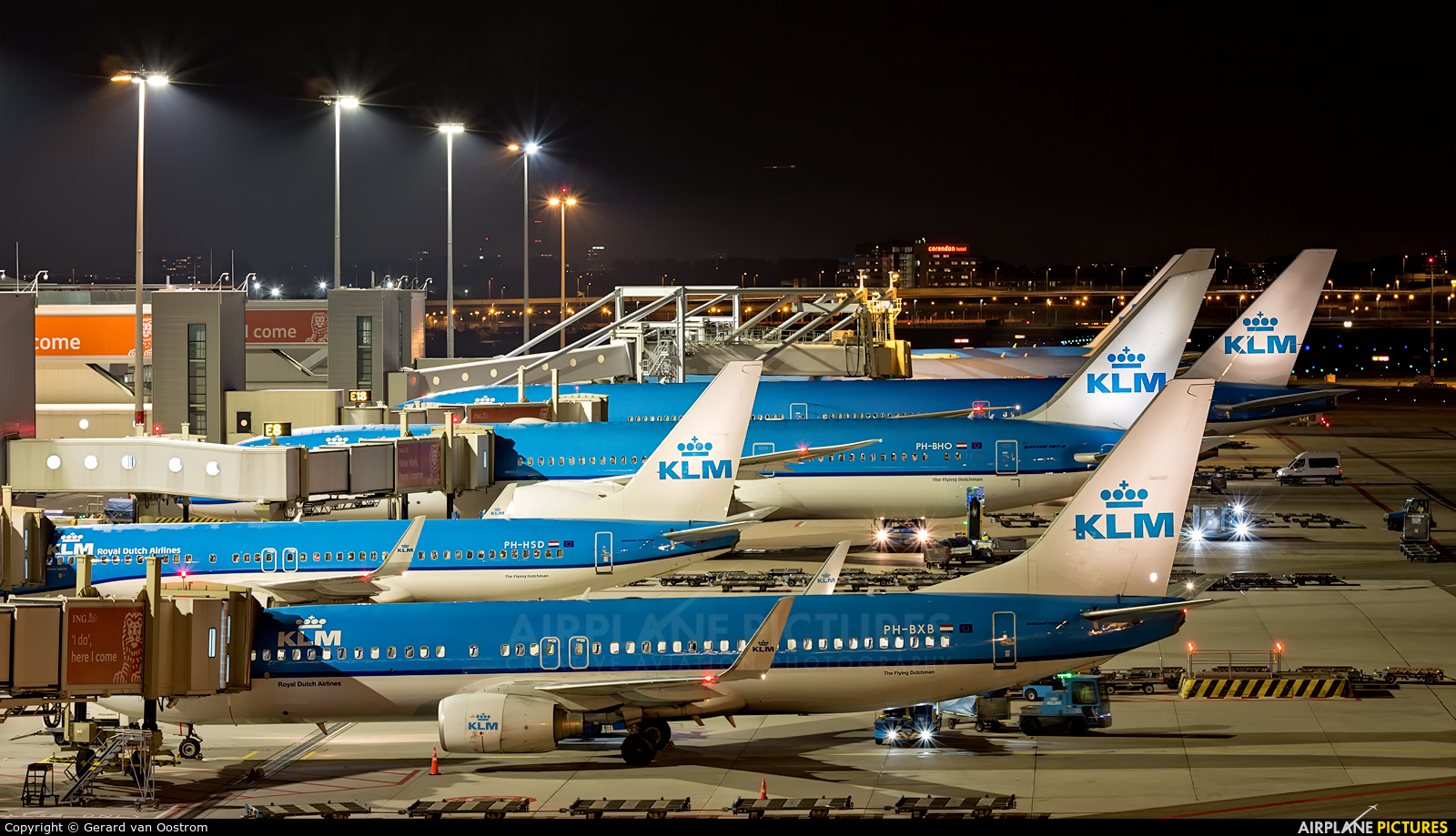 KLM PH-HSD aircraft at Amsterdam - Schiphol