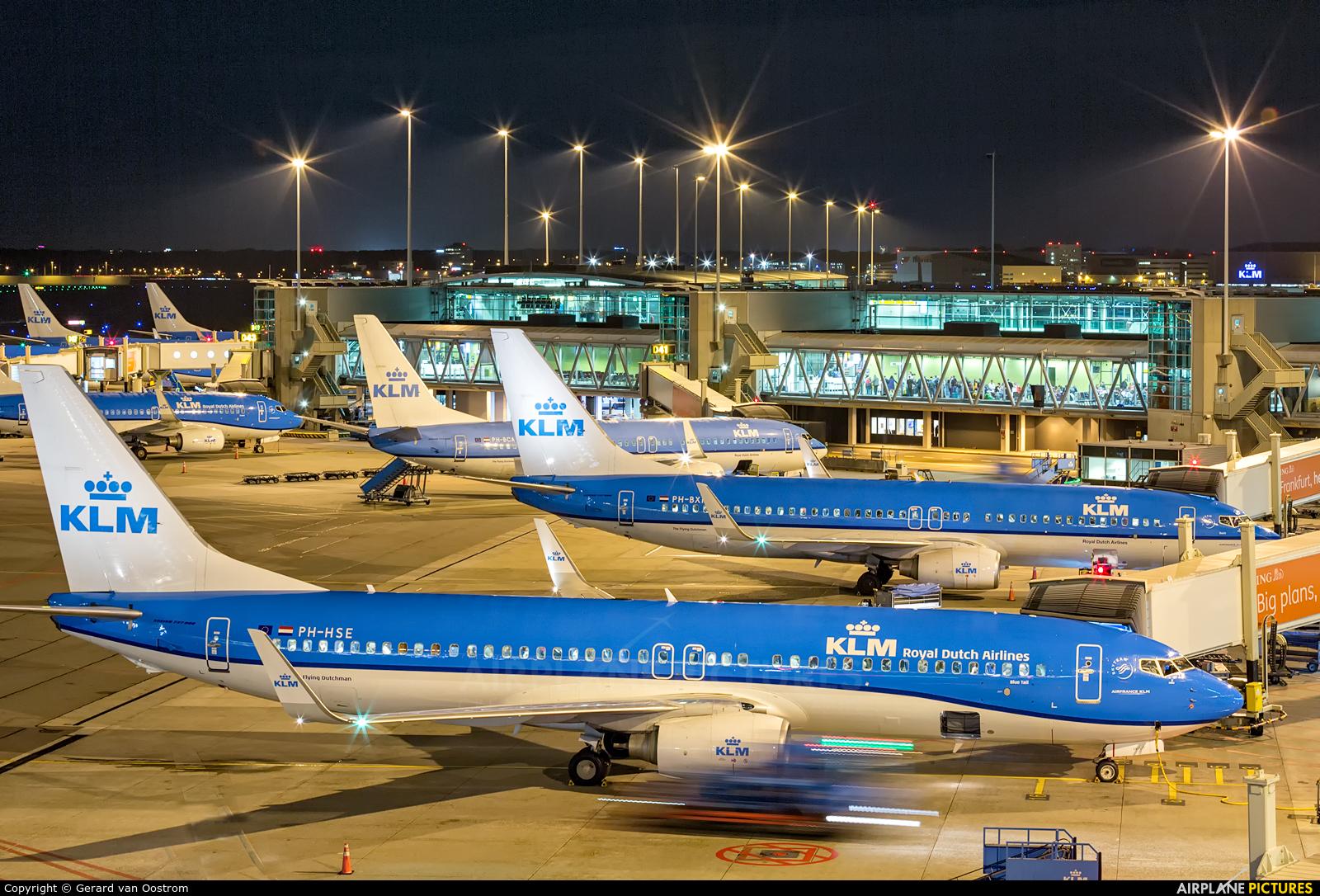 KLM PH-HSE aircraft at Amsterdam - Schiphol