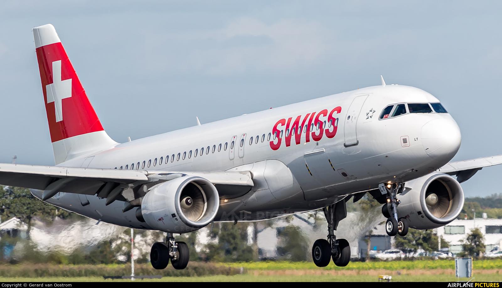 Swiss HB-JLT aircraft at Amsterdam - Schiphol