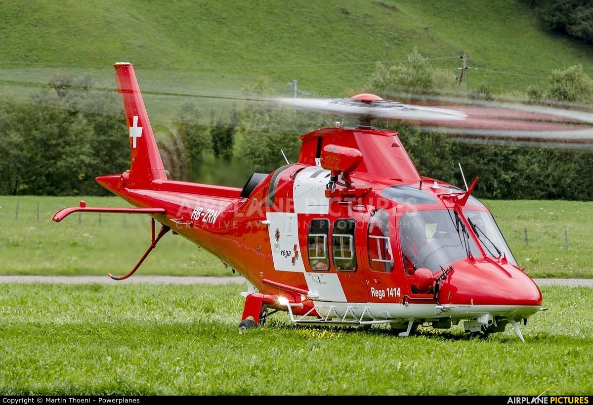 REGA Swiss Air Ambulance  HB-ZRN aircraft at St. Stephan