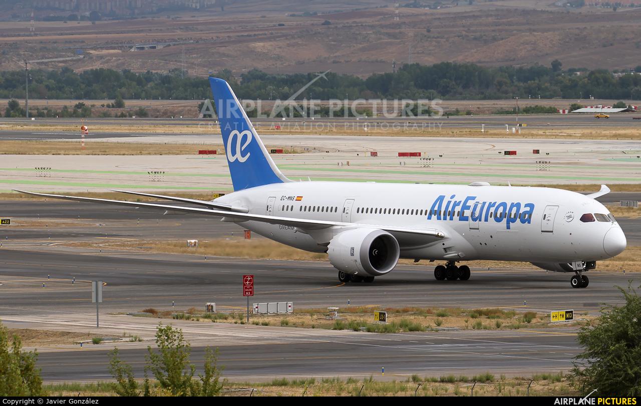 Air Europa EC-MNS aircraft at Madrid - Barajas