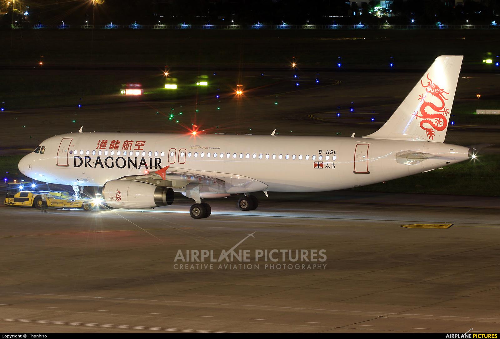 Dragonair B-HSL aircraft at Hanoi - Noi Bai