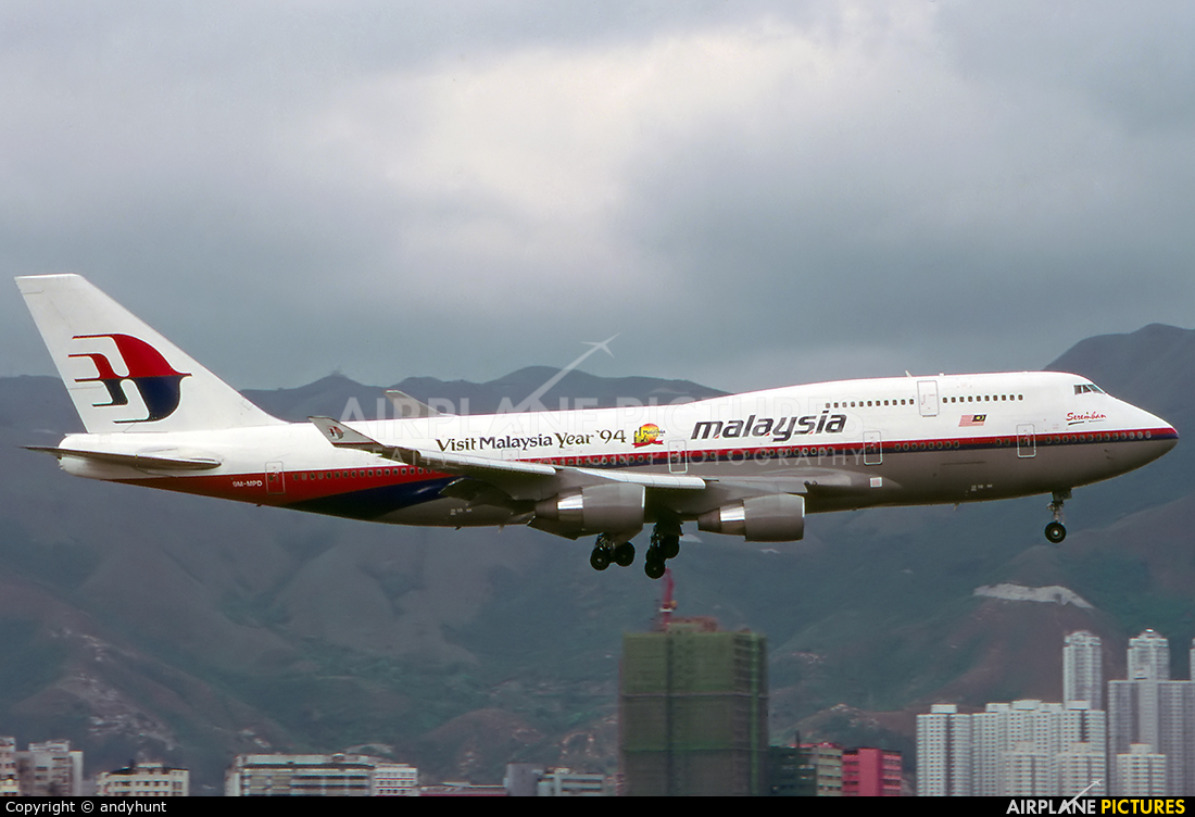 Malaysia Airlines 9M-MPD aircraft at HKG - Kai Tak Intl CLOSED