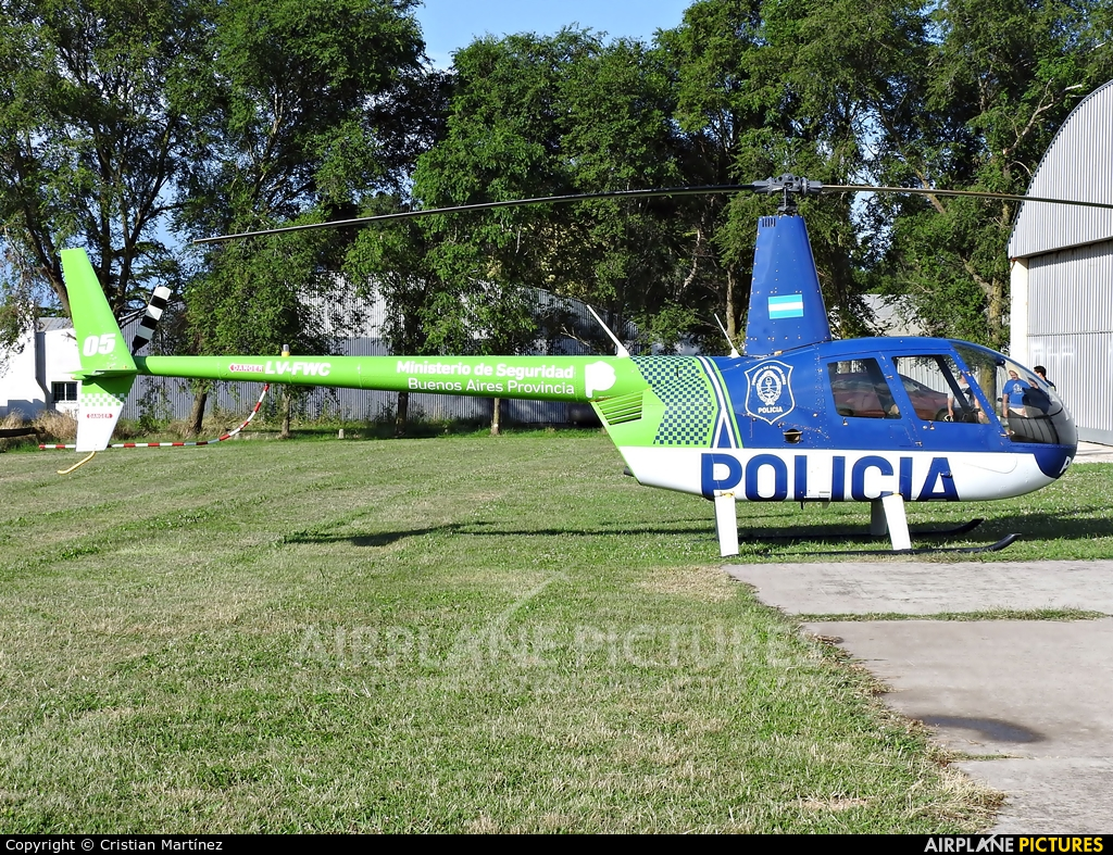 Argentina - Police LV-FWC aircraft at Mar del Plata Astor Piazzolla