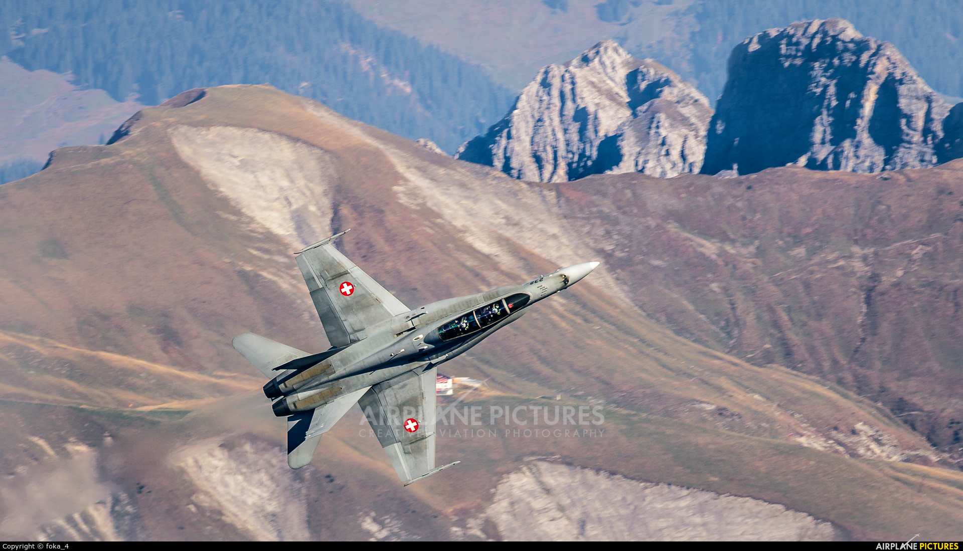 Switzerland - Air Force J-5232 aircraft at Axalp - Ebenfluh Range