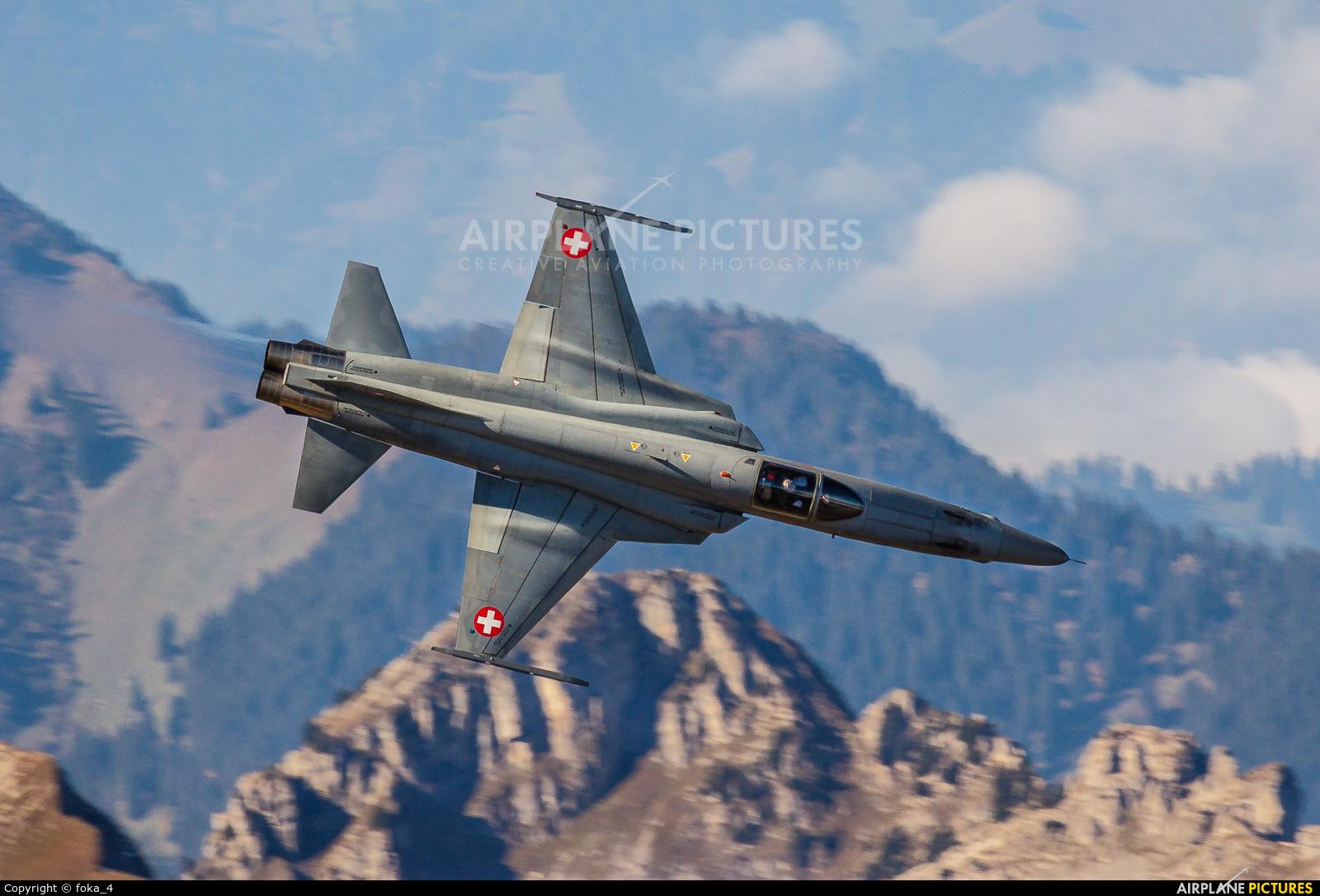 Switzerland - Air Force J-3097 aircraft at Axalp - Ebenfluh Range