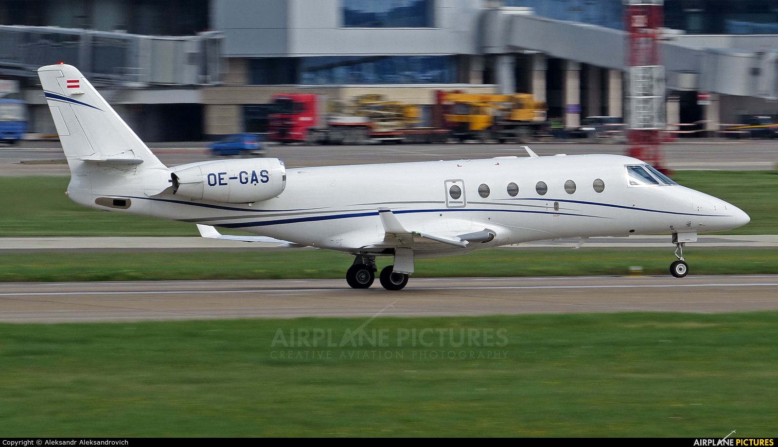 Private OE-GAS aircraft at Minsk Intl